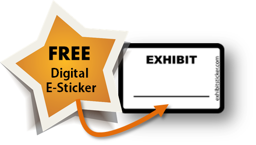 Electronic exhibit stickers for adobe acrobat for Digital exhibit stickers